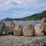 小豆島土産「島ふくろう」 小豆島産の石から一つ一つ作りました。西山石材オリジナル商品の島ふくろうです。小豆島のお土産にどうぞ。