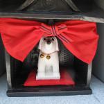 三都 犬の墓: 犬の御神体は大理石でできています。