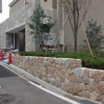 小豆島石(花崗岩)の野面の施工です