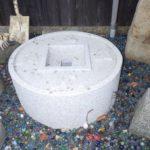 吾唯足知と彫刻された古銭鉢です。